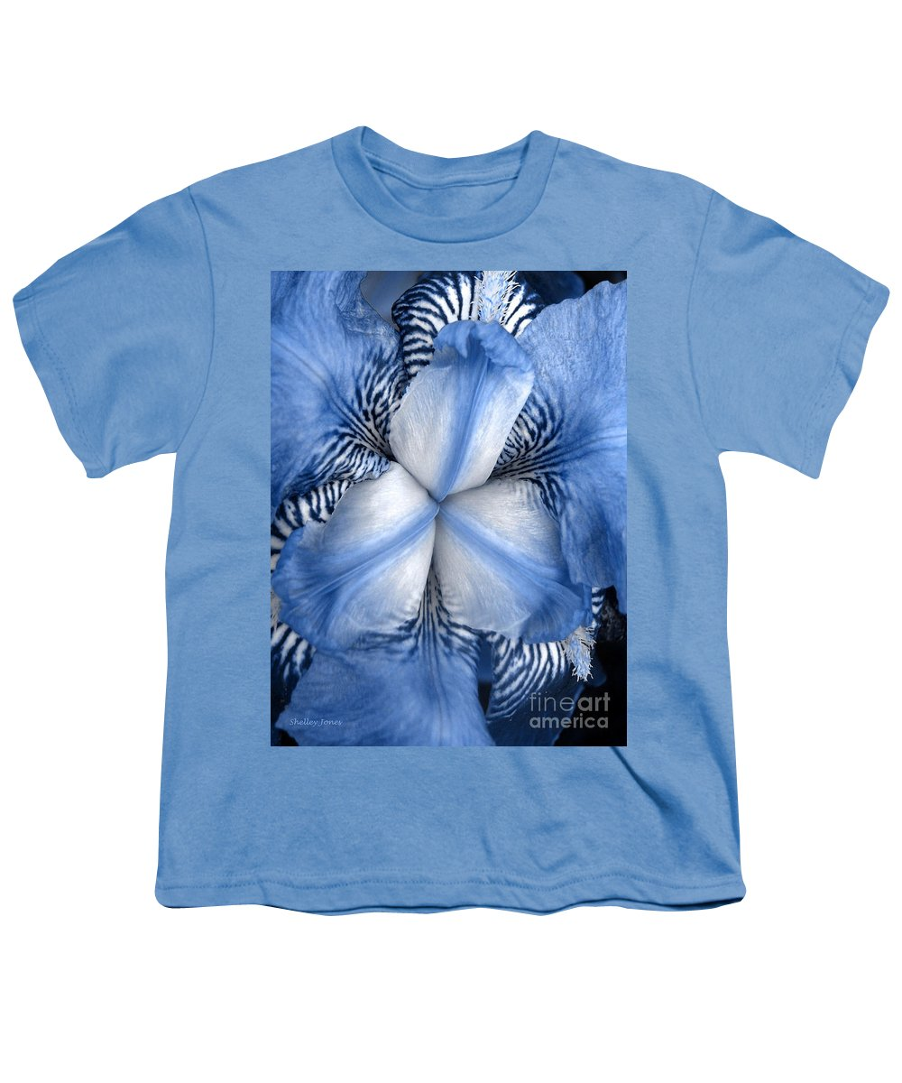 Jphotography Youth T-Shirt featuring the photograph Blue Tiger Iris by Shelley Jones