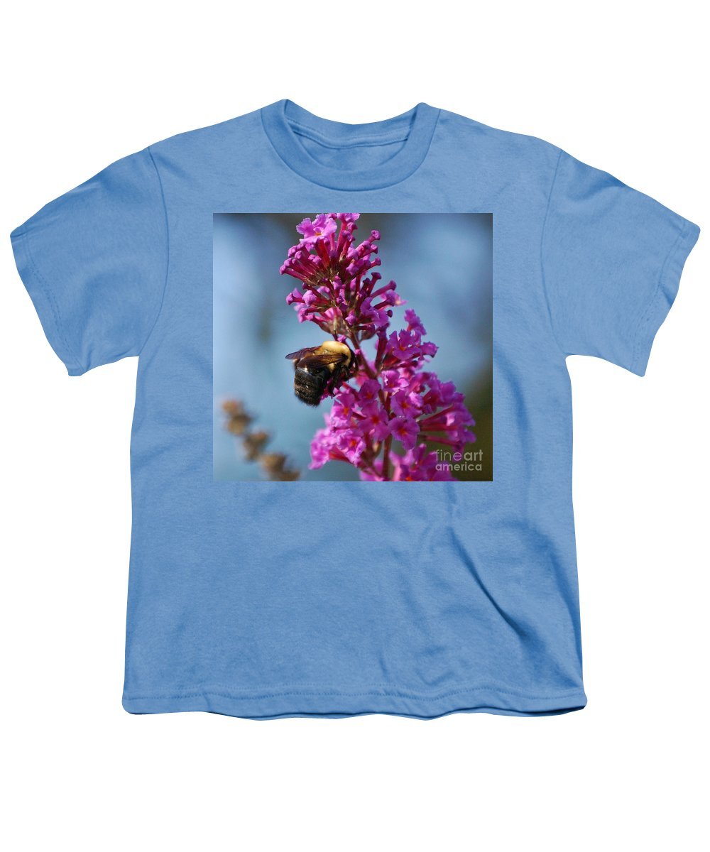 Bee Youth T-Shirt featuring the photograph Buzzed by Debbi Granruth