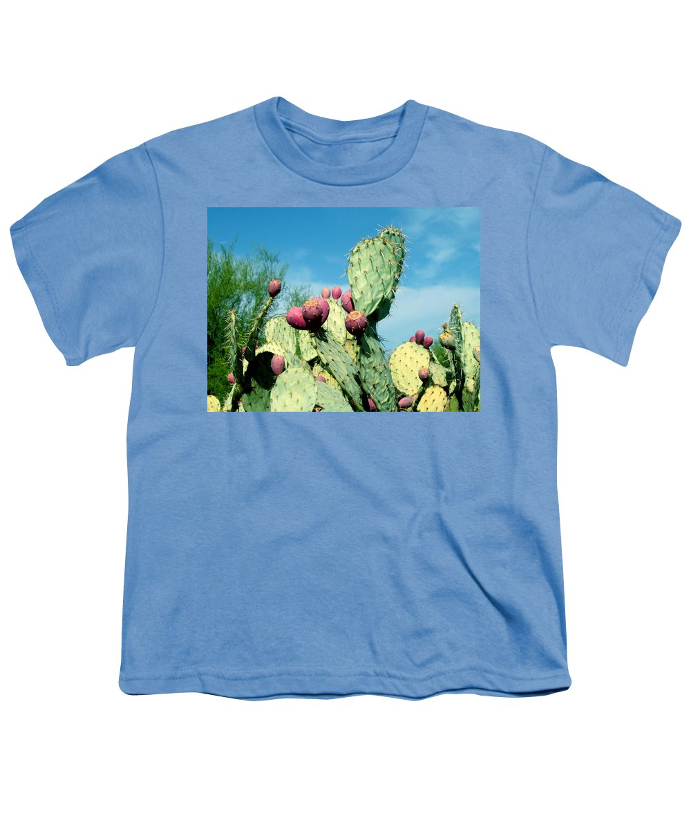 Cactus Youth T-Shirt featuring the photograph Cactus by Wayne Potrafka