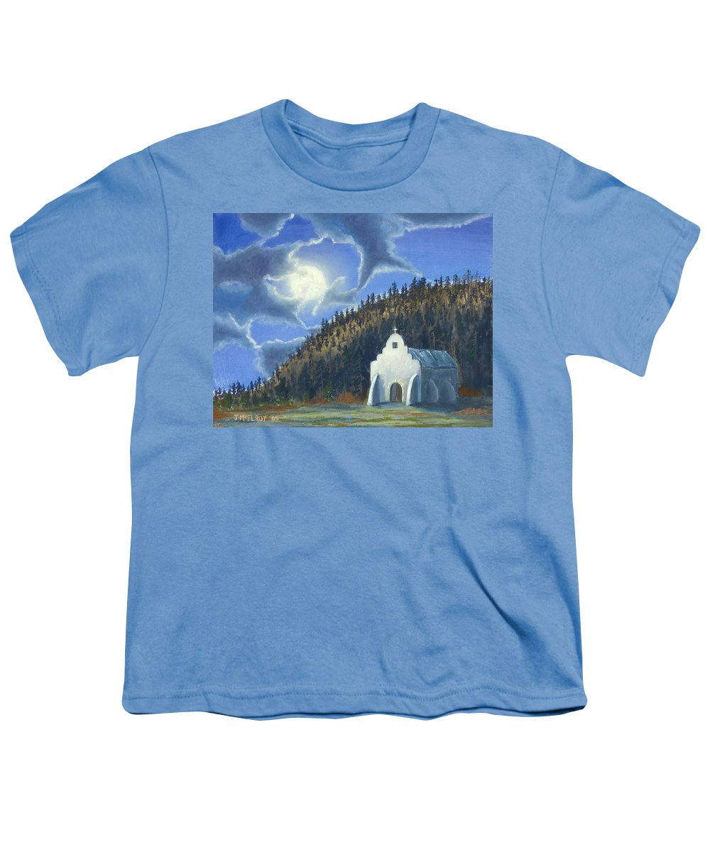 Landscape Youth T-Shirt featuring the painting Dancing In The Moonlight by Jerry McElroy