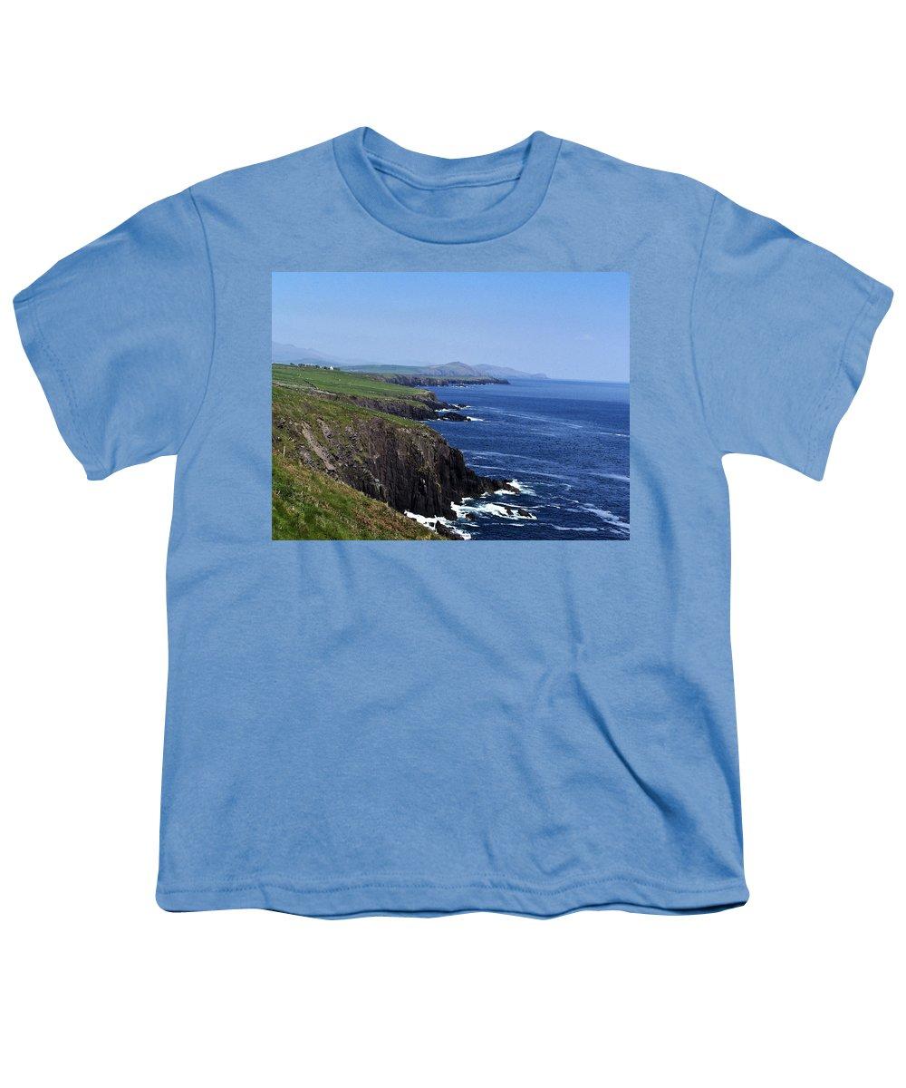 Irish Youth T-Shirt featuring the photograph Dingle Coast Near Fahan Ireland by Teresa Mucha