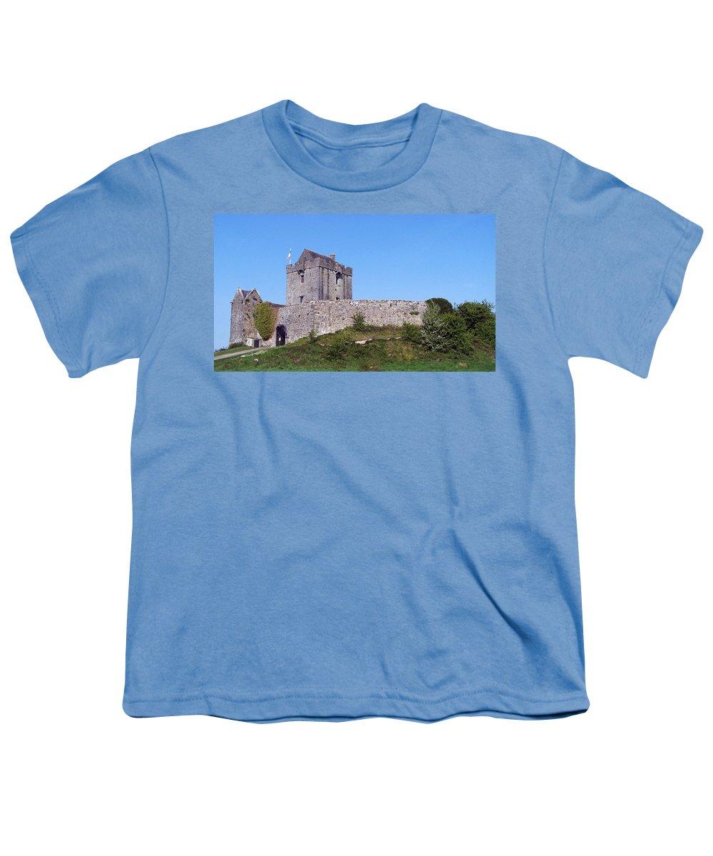 Irish Youth T-Shirt featuring the photograph Dunguaire Castle Kinvara Ireland by Teresa Mucha