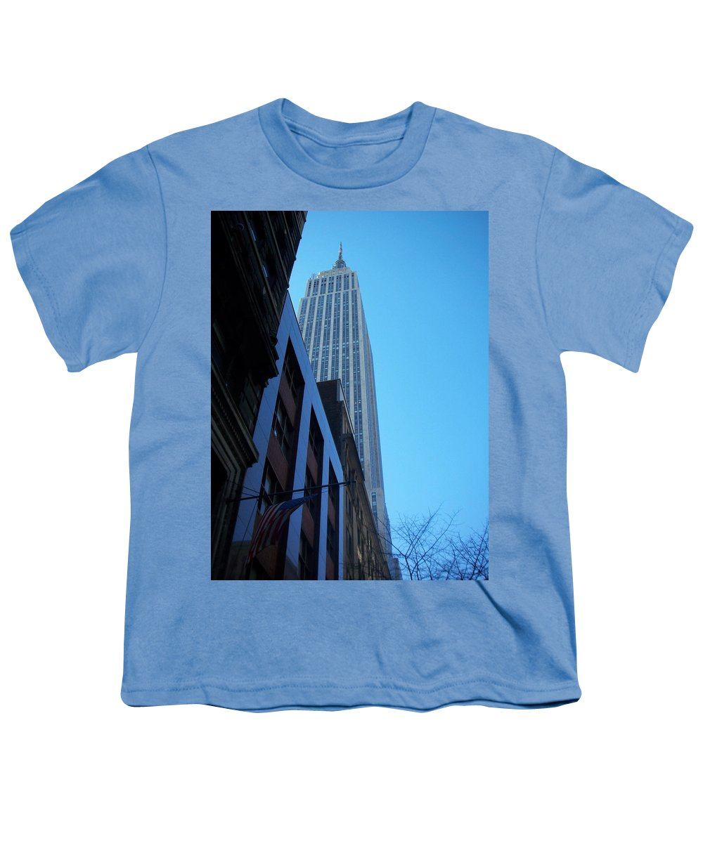 Emoire State Building Youth T-Shirt featuring the photograph Empire State 1 by Anita Burgermeister