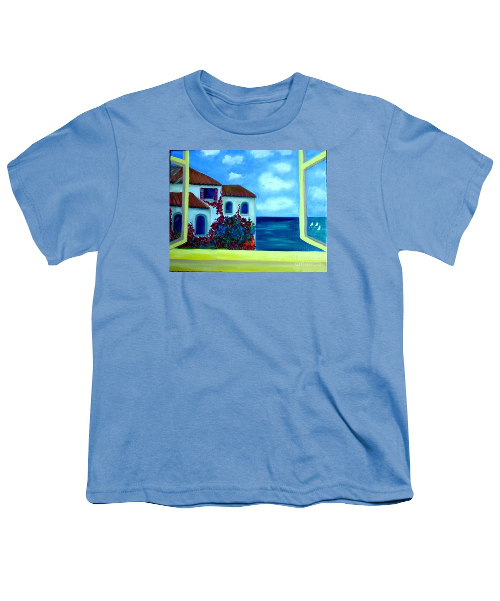 Seascape Youth T-Shirt featuring the painting Fresh Sea Air by Laurie Morgan