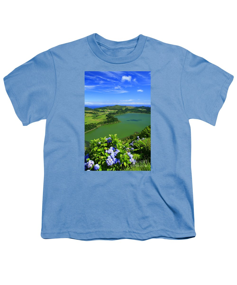 Azores Youth T-Shirt featuring the photograph Furnas Lake by Gaspar Avila