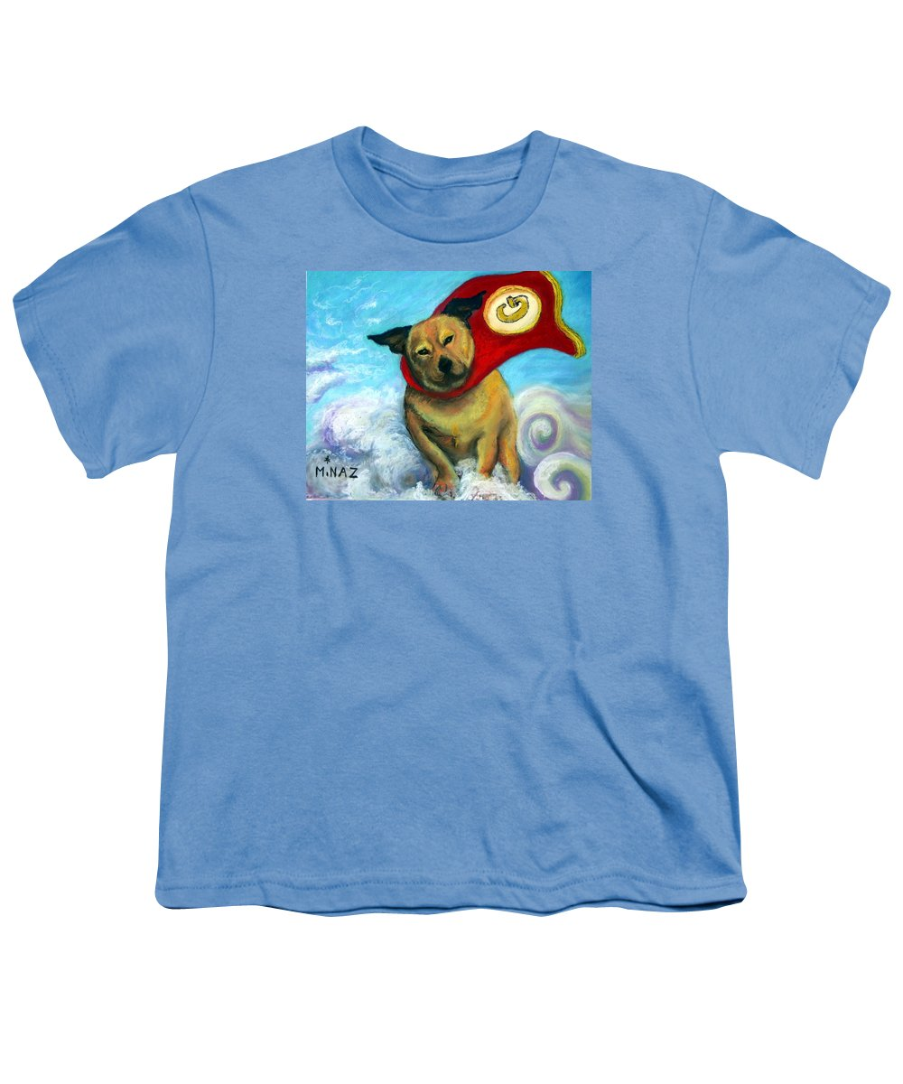 Dog Youth T-Shirt featuring the painting Gizmo The Great by Minaz Jantz
