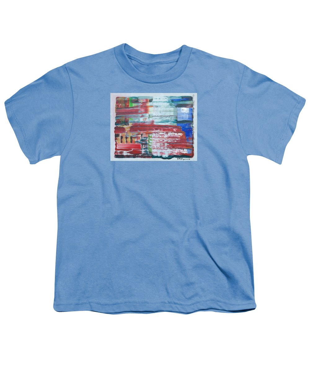 Impressionism Youth T-Shirt featuring the painting Glass Blocks by J R Seymour