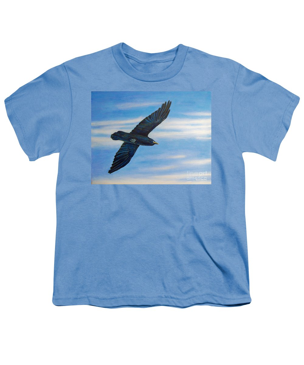 Bird Youth T-Shirt featuring the painting Going Home by Brian Commerford