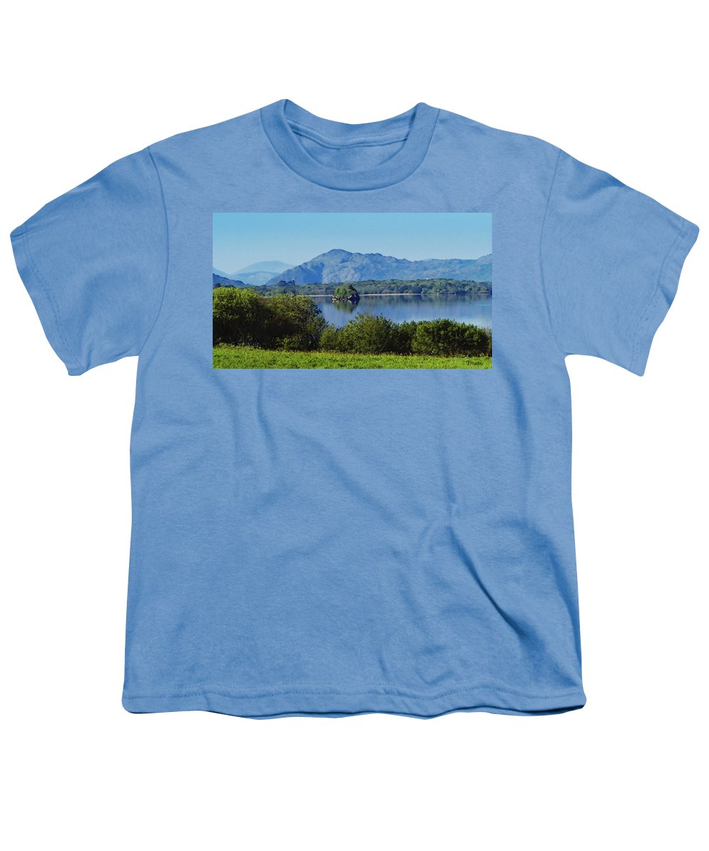 Irish Youth T-Shirt featuring the painting Loch Leanne Painting Killarney Ireland by Teresa Mucha