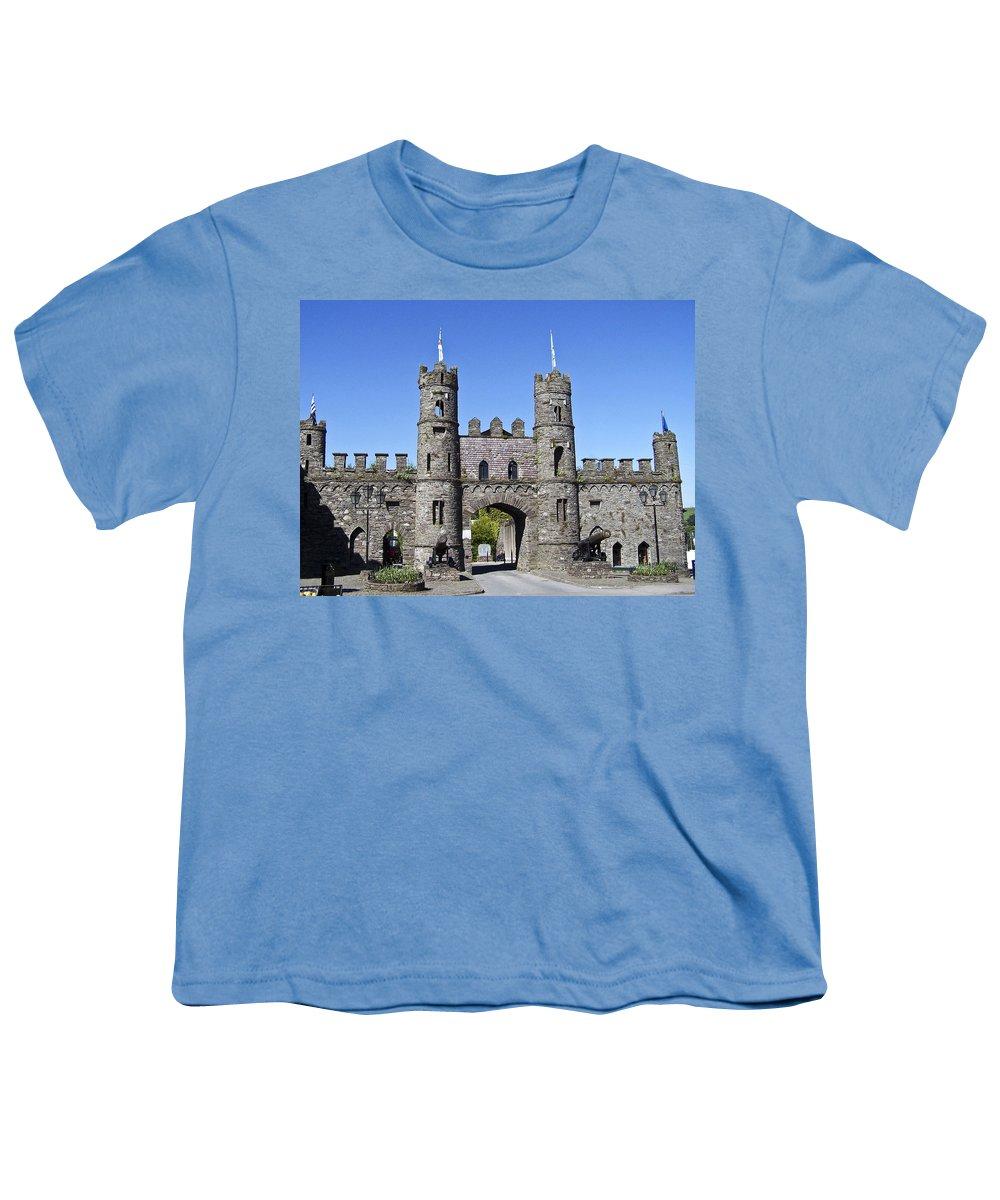 Irish Youth T-Shirt featuring the photograph Macroom Castle Ireland by Teresa Mucha