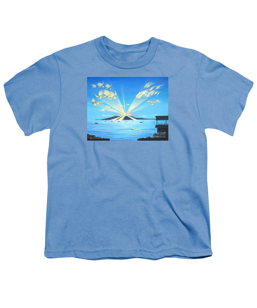 Maui Youth T-Shirt featuring the painting Maui Magic by Jerome Stumphauzer
