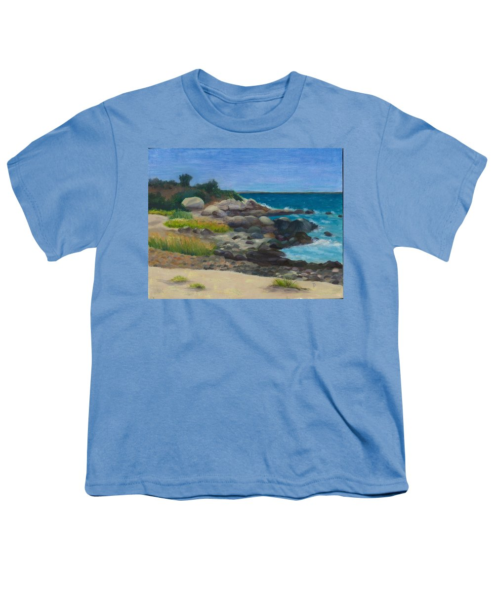 Landscape Youth T-Shirt featuring the painting Meigs Point by Paula Emery
