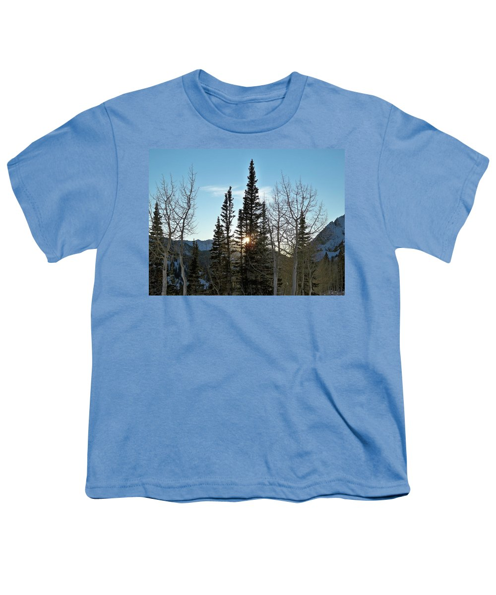 Rural Youth T-Shirt featuring the photograph Mountain Sunset by Michael Cuozzo