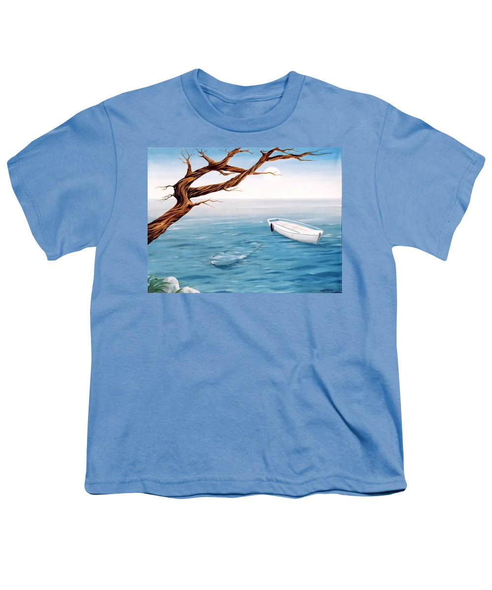 Seascape Prints Youth T-Shirt featuring the painting Mourning Spring by Mark Cawood