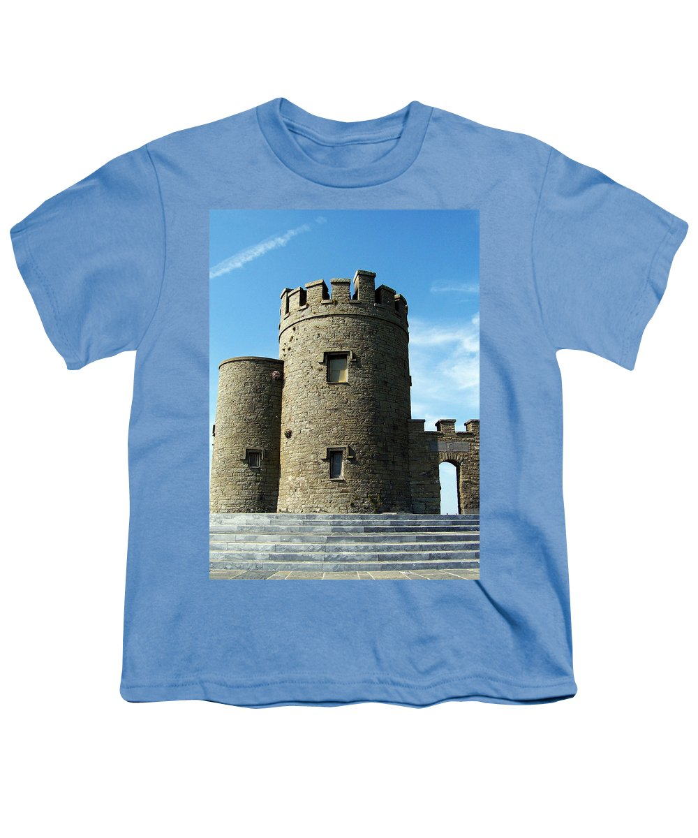 Irish Youth T-Shirt featuring the photograph O Brien's Tower Cliffs Of Moher Ireland by Teresa Mucha