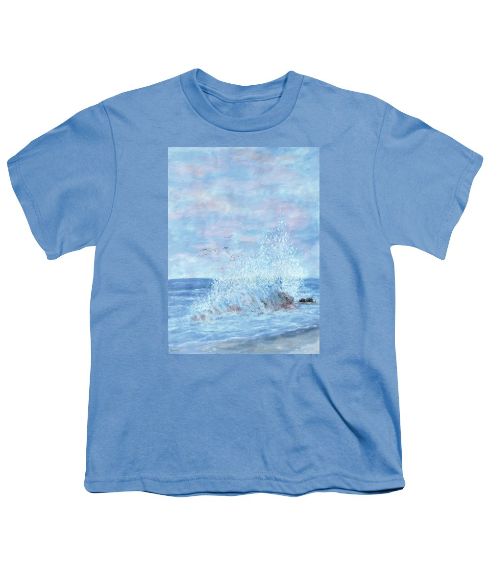 Gulls Youth T-Shirt featuring the painting Ocean Spray by Ben Kiger
