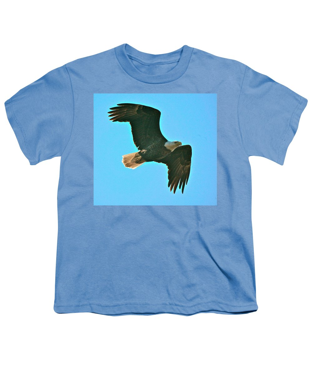 Related Tags: Eagle Artwork Youth T-Shirt featuring the photograph On Patrol by Robert Pearson