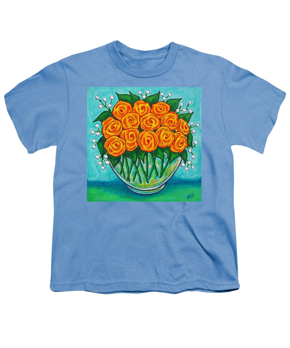 Orange Youth T-Shirt featuring the painting Orange Passion by Lisa Lorenz