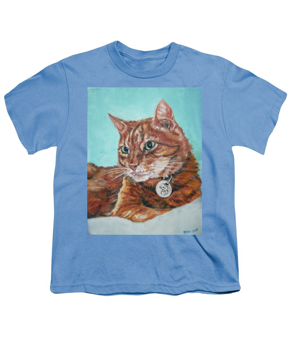 Cat Youth T-Shirt featuring the painting Oscar by Bryan Bustard