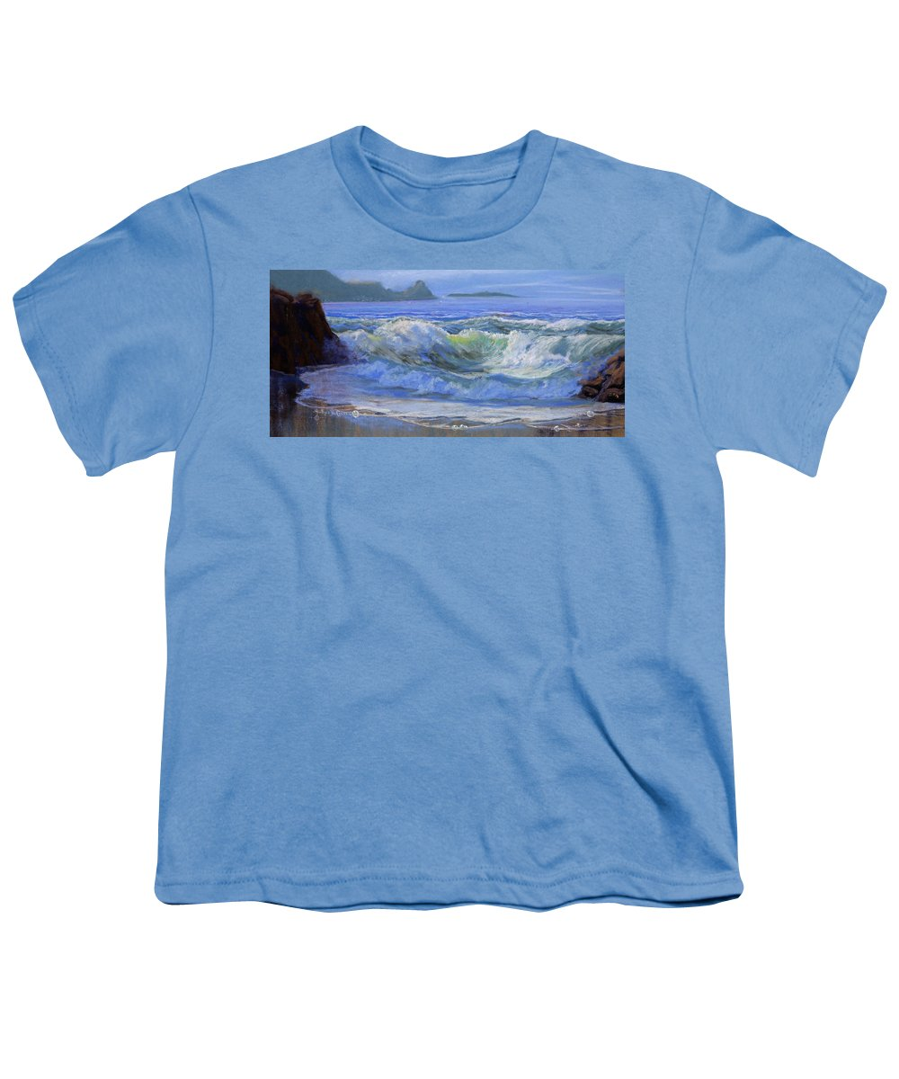 Seascape Youth T-Shirt featuring the painting Point Reyes by Heather Coen