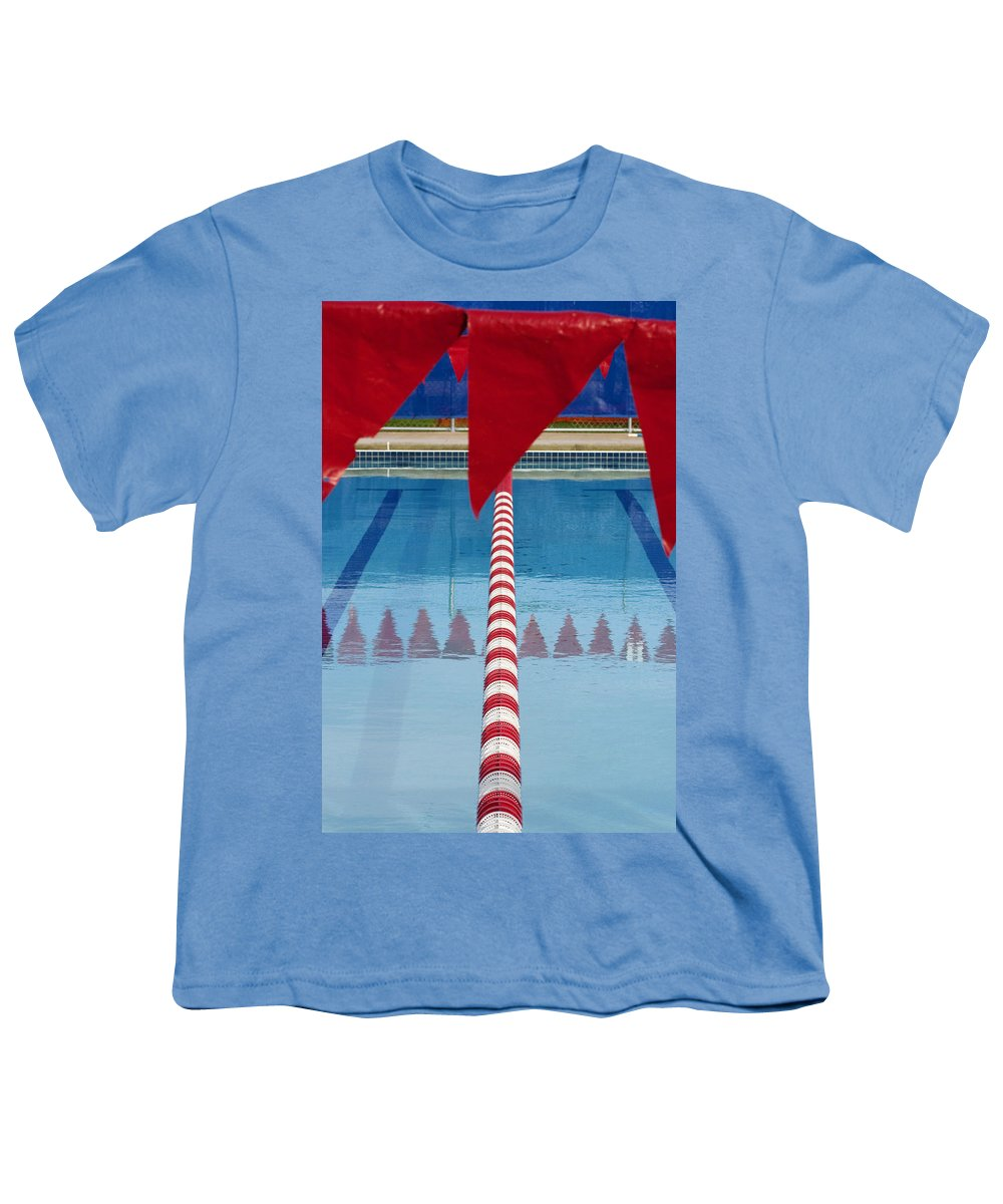 Flag Youth T-Shirt featuring the photograph Pool by Skip Hunt