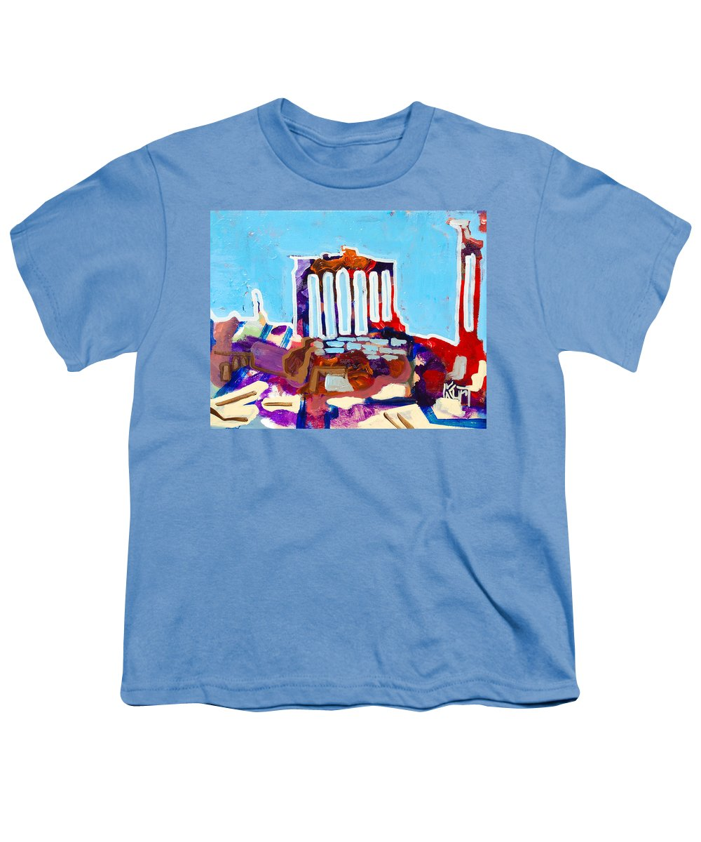 Rome Youth T-Shirt featuring the painting Rome by Kurt Hausmann