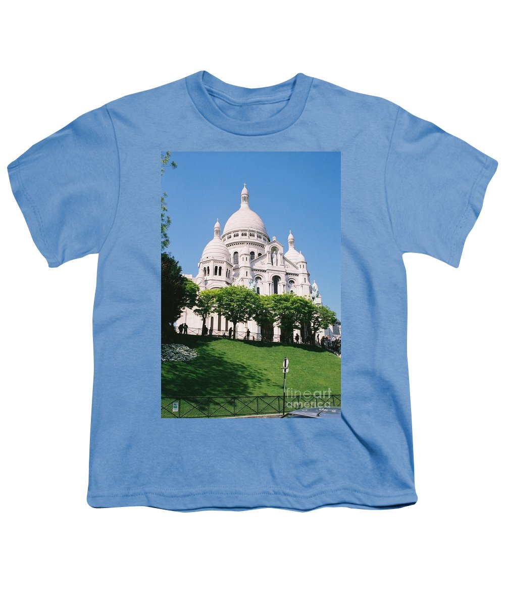 Church Youth T-Shirt featuring the photograph Sacre Coeur by Nadine Rippelmeyer