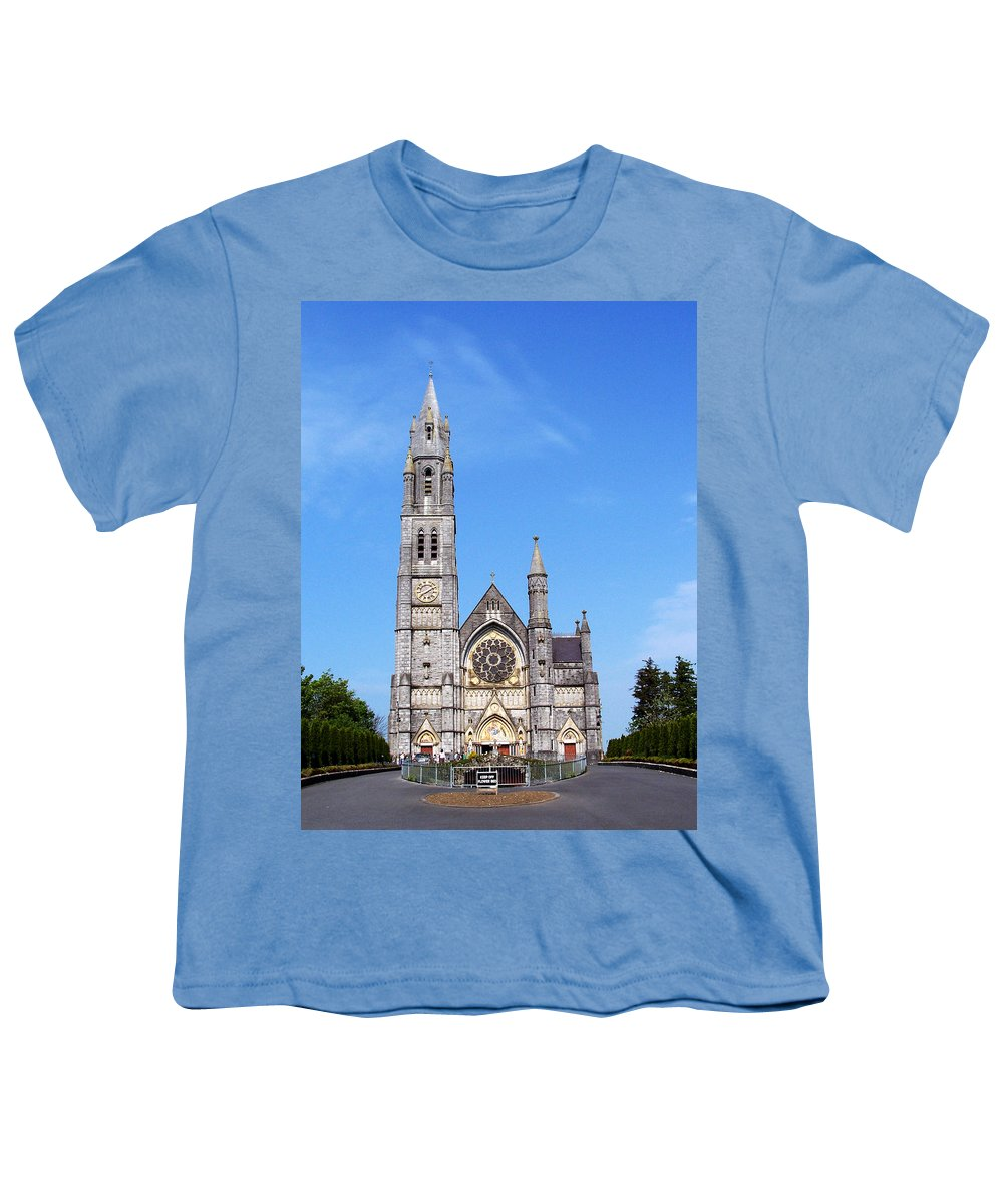 Ireland Youth T-Shirt featuring the photograph Sacred Heart Church Roscommon Ireland by Teresa Mucha