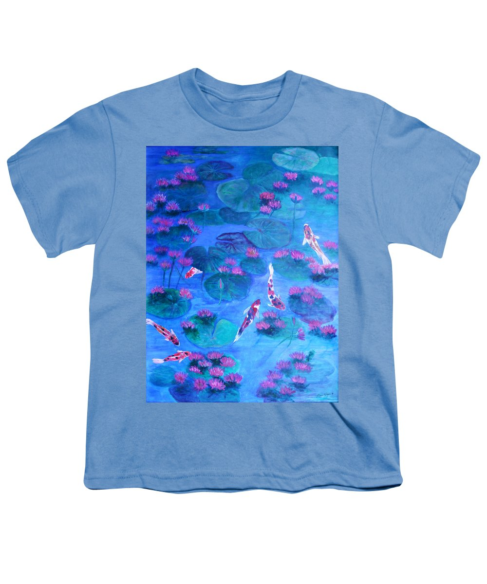 Lily Pads Youth T-Shirt featuring the painting Serene Pond by Ben Kiger