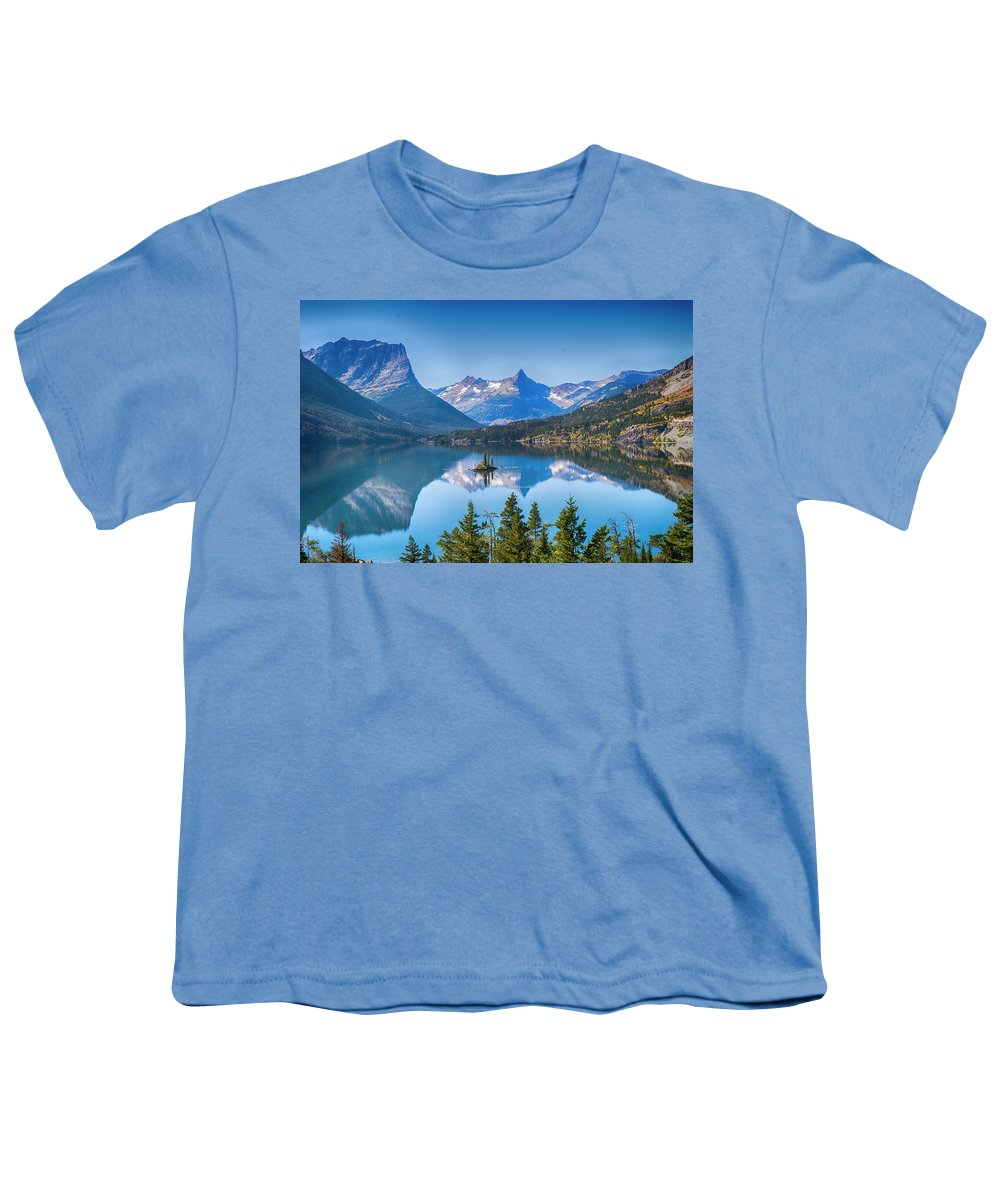 Lake Youth T-Shirt featuring the photograph St Mary Lake by Bryan Spellman
