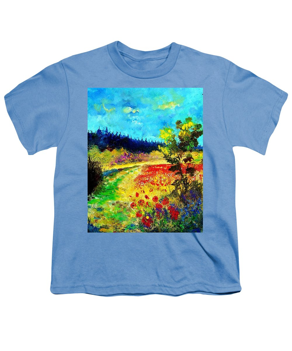 Flowers Youth T-Shirt featuring the painting Summer by Pol Ledent