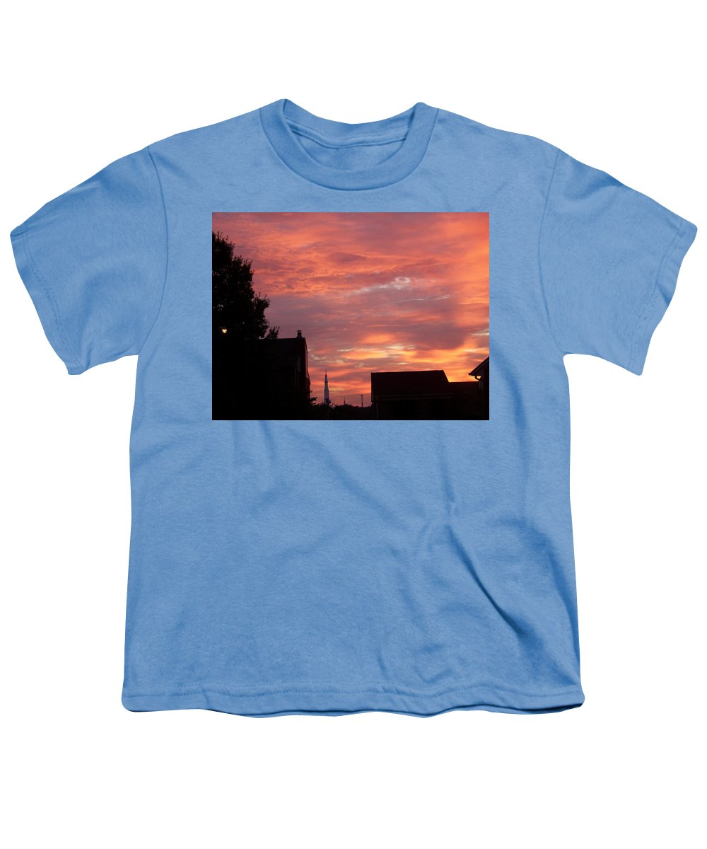 Saturn Moon Rocket Youth T-Shirt featuring the photograph Take Me To The Moon by Larry Wright