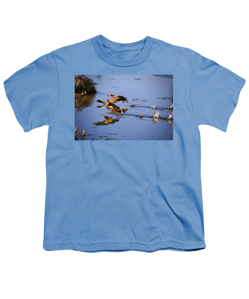 Duck Youth T-Shirt featuring the photograph Take Off by Robert Pearson