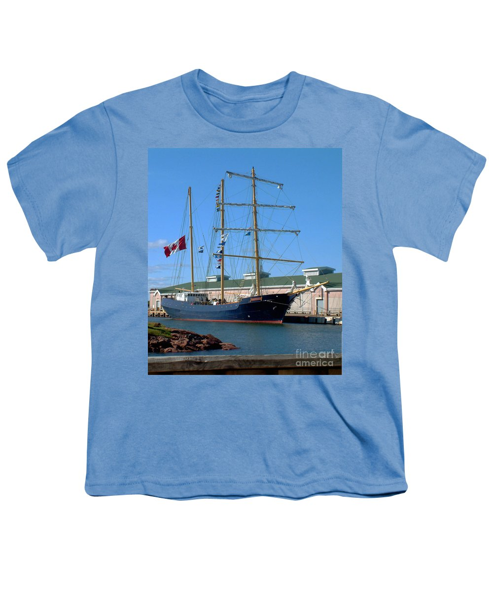 Dock Youth T-Shirt featuring the photograph Tall Ship Waiting by RC DeWinter