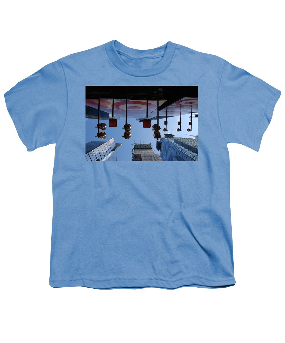 Architecture Youth T-Shirt featuring the photograph Target Lights by Rob Hans