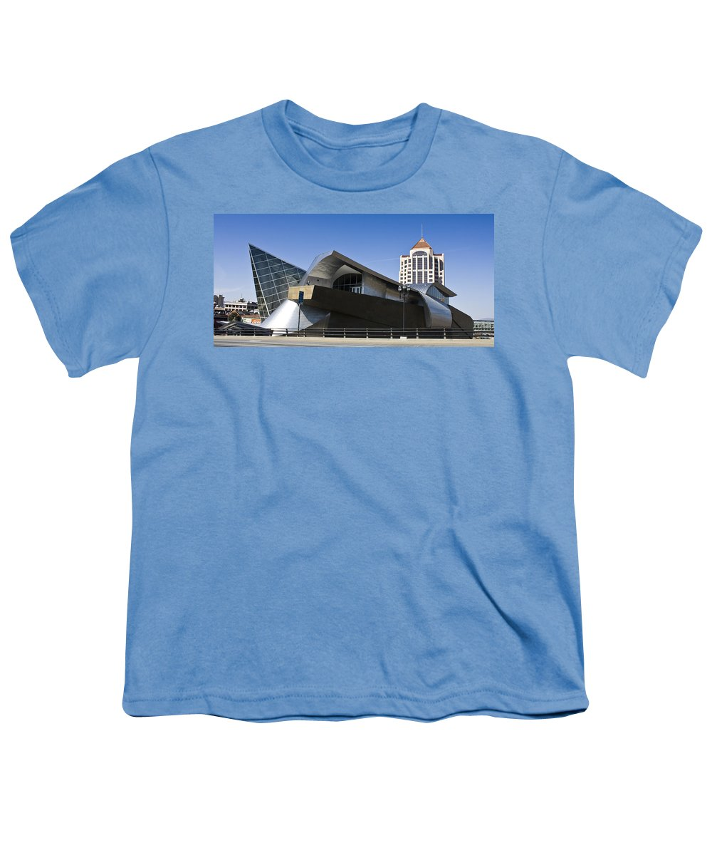 Roanoke Youth T-Shirt featuring the photograph Taubman And Tower Roanoke Virginia by Teresa Mucha