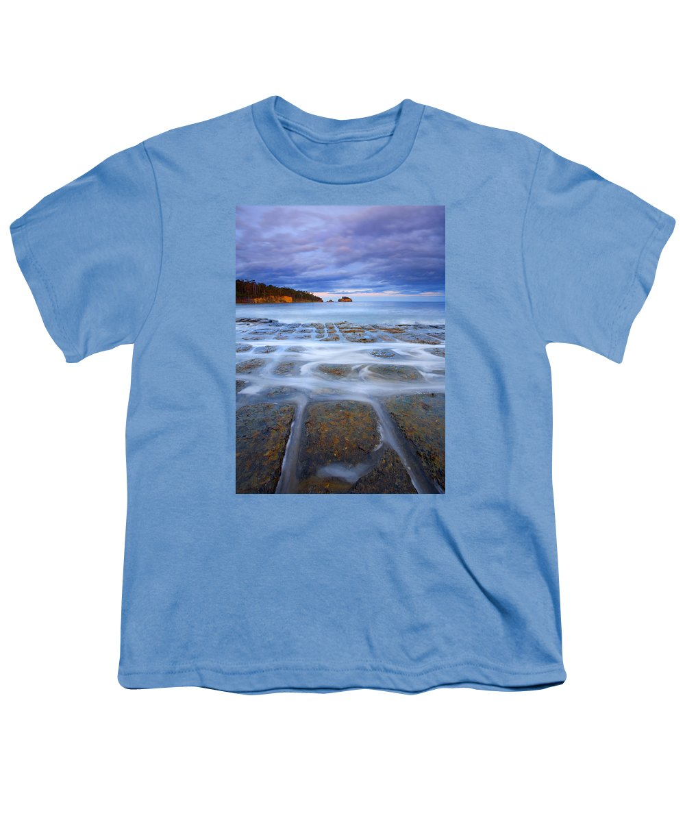 Sunset Youth T-Shirt featuring the photograph Tesselated Sunset by Mike Dawson