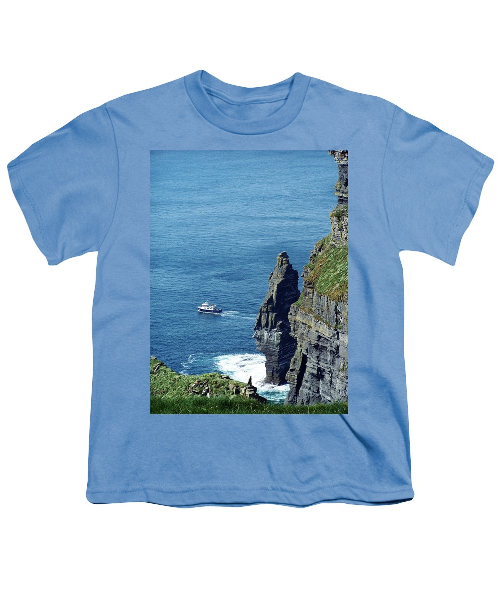 Irish Youth T-Shirt featuring the photograph The Stack And The Jack B Cliffs Of Moher Ireland by Teresa Mucha