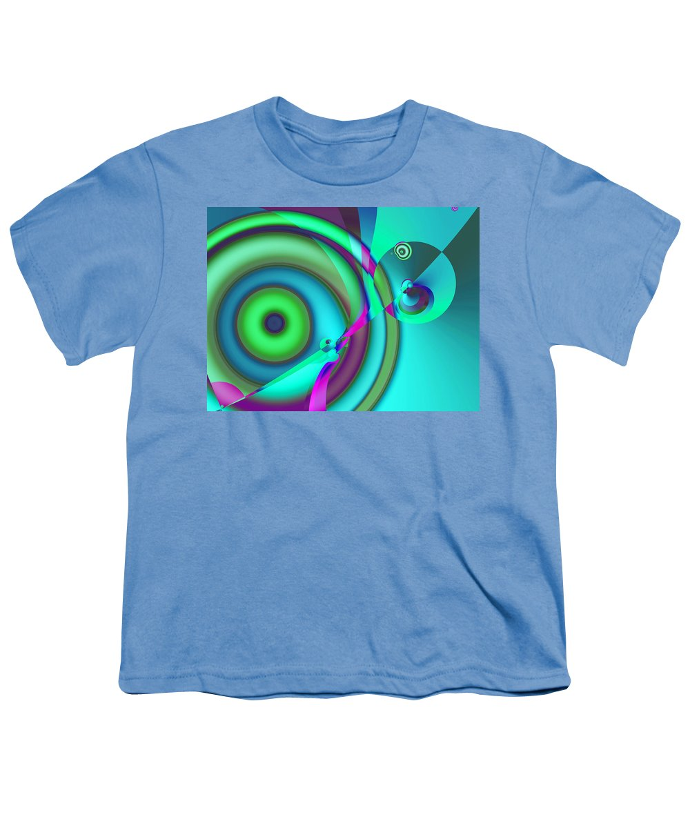 Abstract Youth T-Shirt featuring the digital art Time Warp by Frederic Durville