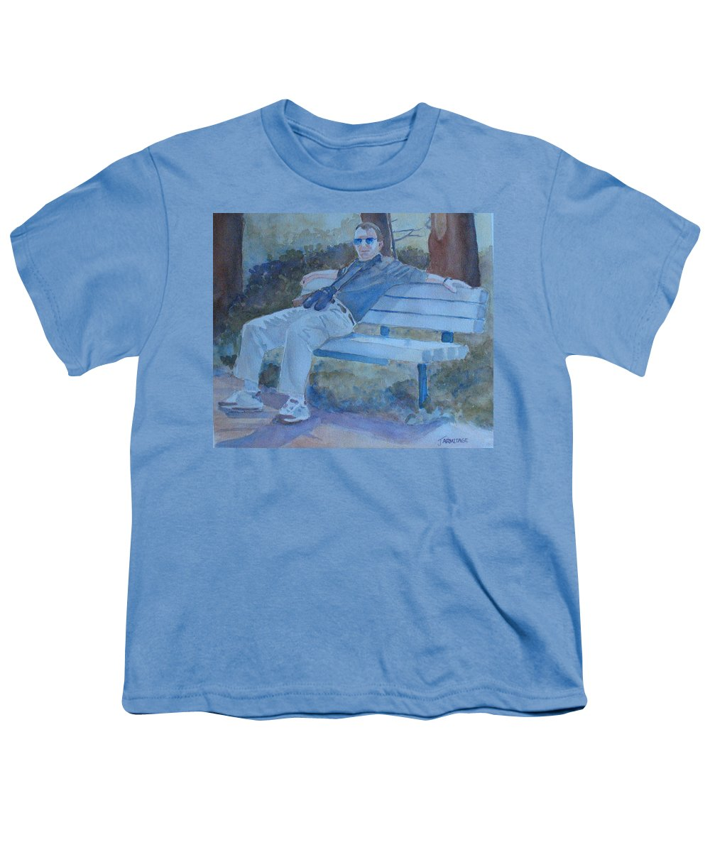 Tourists Youth T-Shirt featuring the painting Tourist At Rest by Jenny Armitage