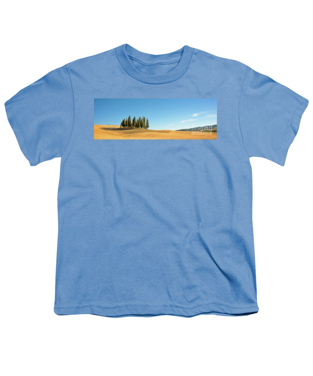Tuscany Youth T-Shirt featuring the photograph Tuscan Panorama by Delphimages Photo Creations