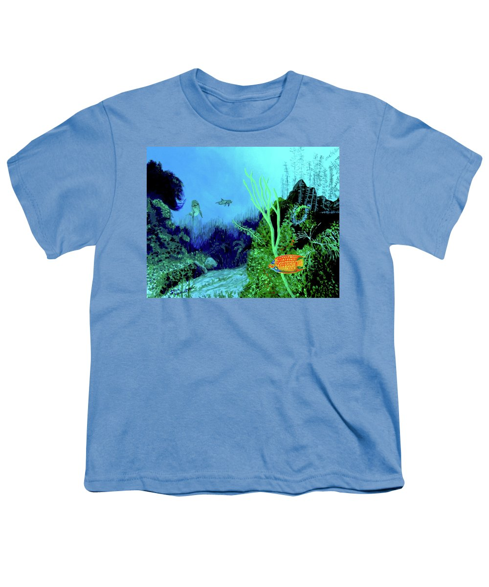 Wildlife Youth T-Shirt featuring the painting Underwater by Stan Hamilton