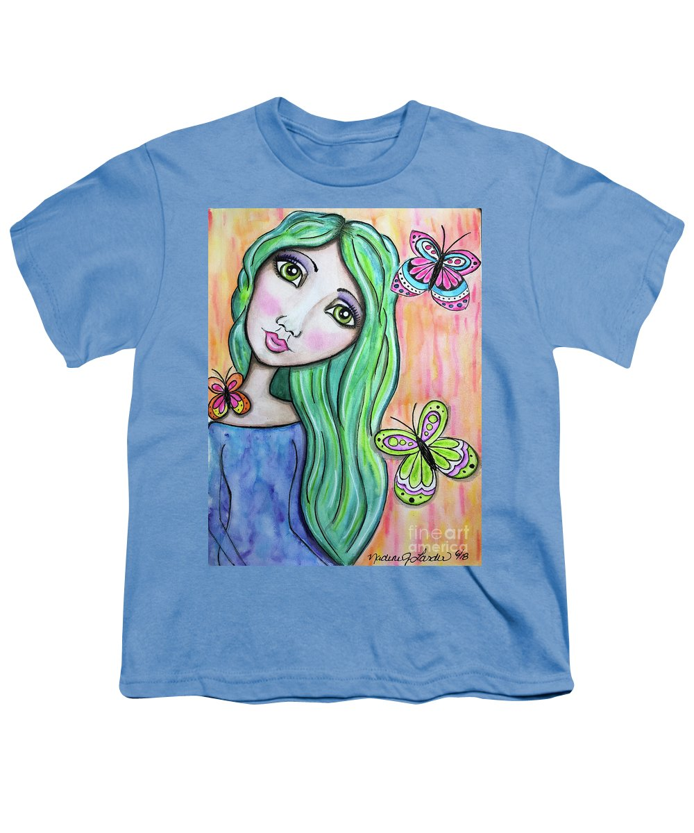 Whimsical Character Youth T-Shirt featuring the painting Hazel by Nadine Larder
