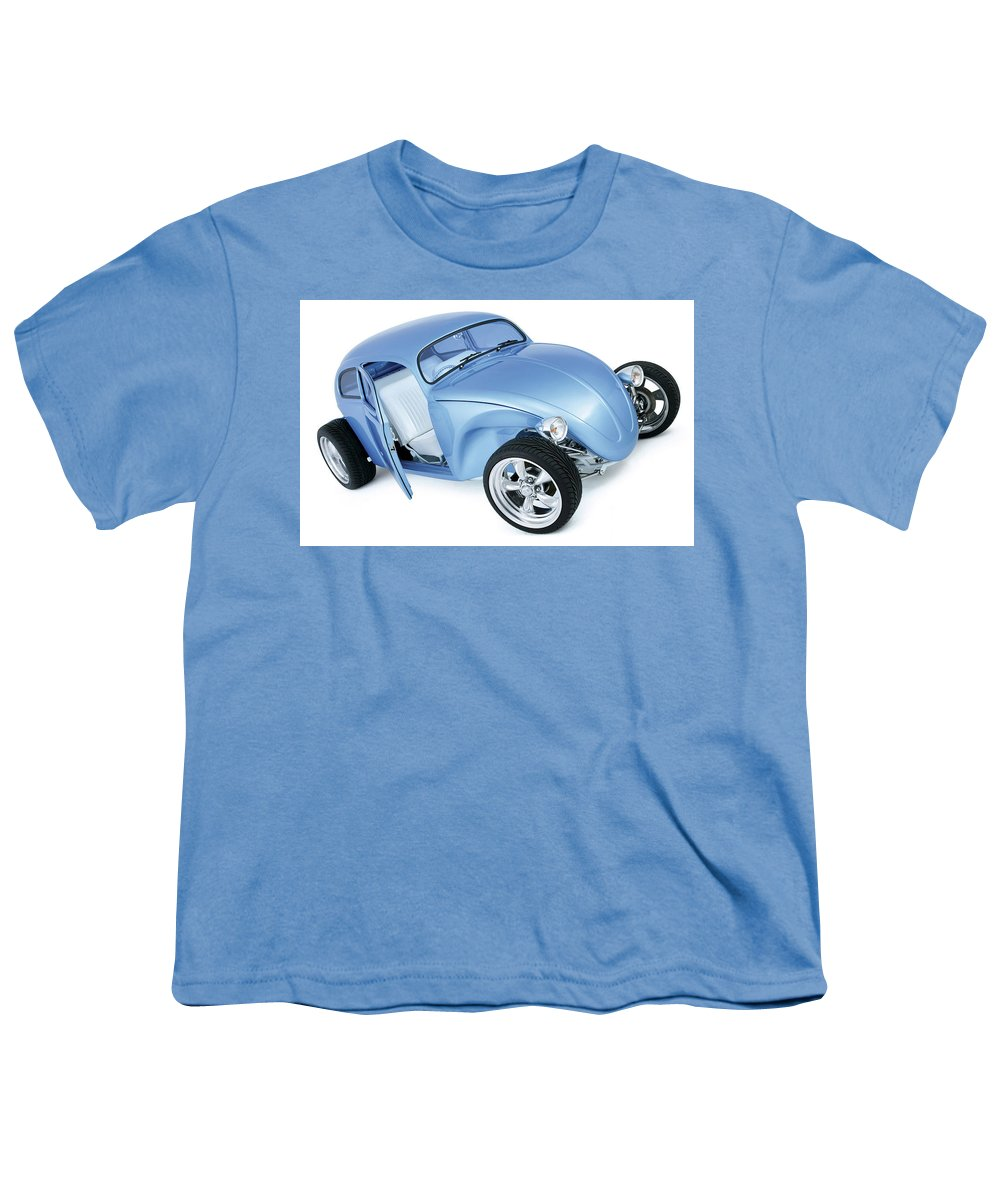Volkswagen Beetle Youth T-Shirt featuring the digital art Volkswagen Beetle by Super Lovely