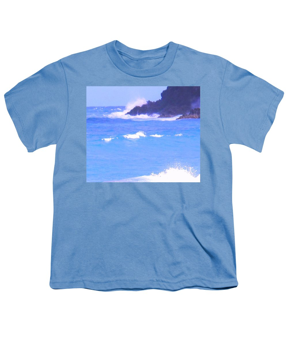 Ocean Youth T-Shirt featuring the photograph Waves Crashing by Ian MacDonald