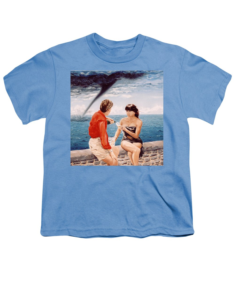 Whirlwind Youth T-Shirt featuring the painting Whirlwind Romance by Mark Cawood