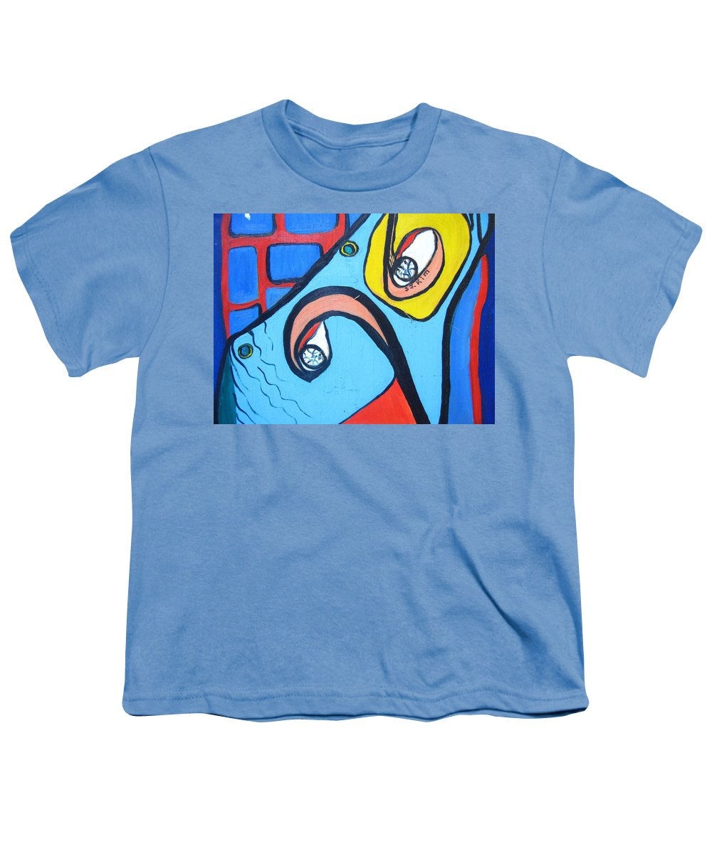 Woman Paintings Youth T-Shirt featuring the painting Woman13 by Seon-Jeong Kim