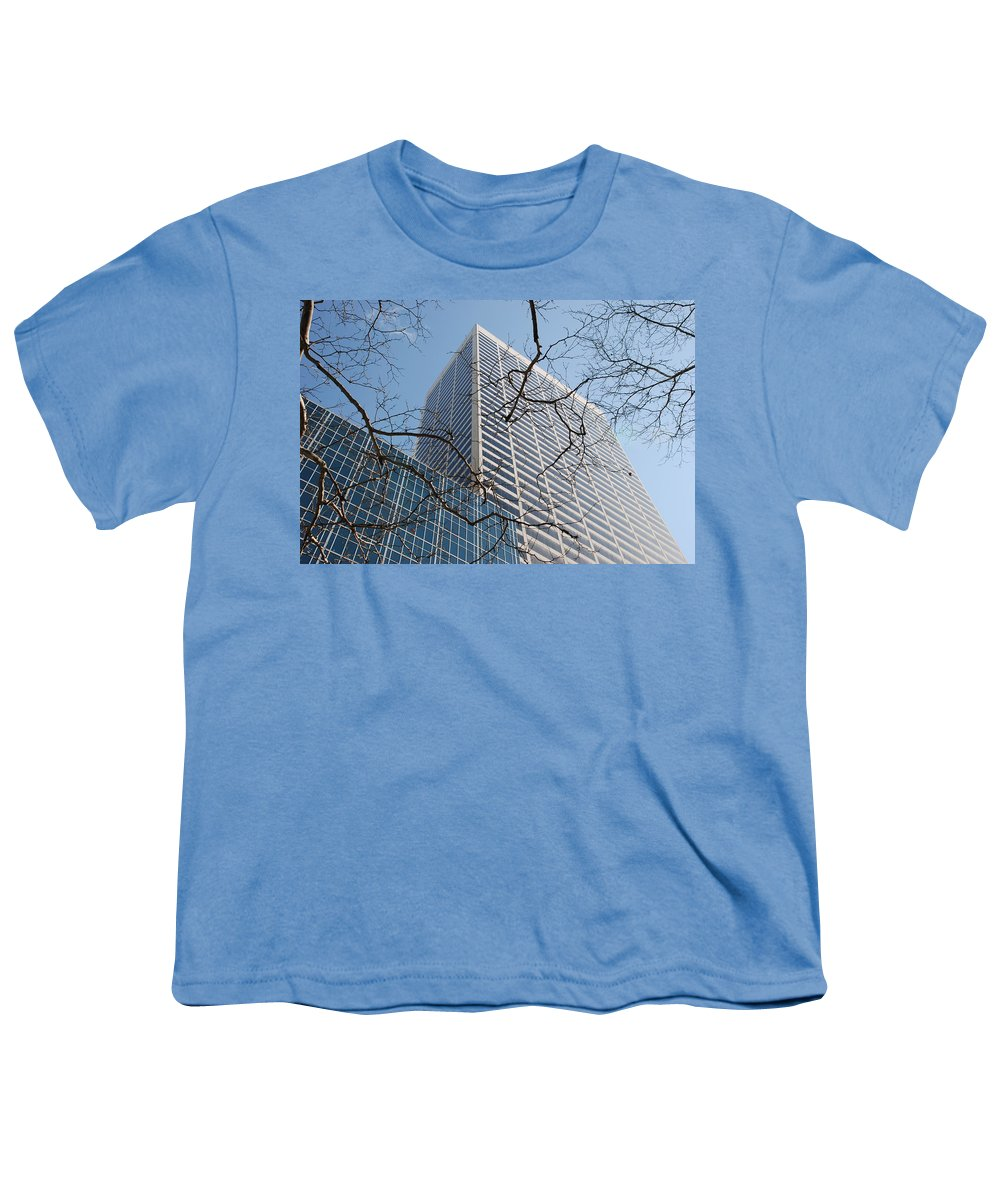 Architecture Youth T-Shirt featuring the photograph Wood And Glass by Rob Hans