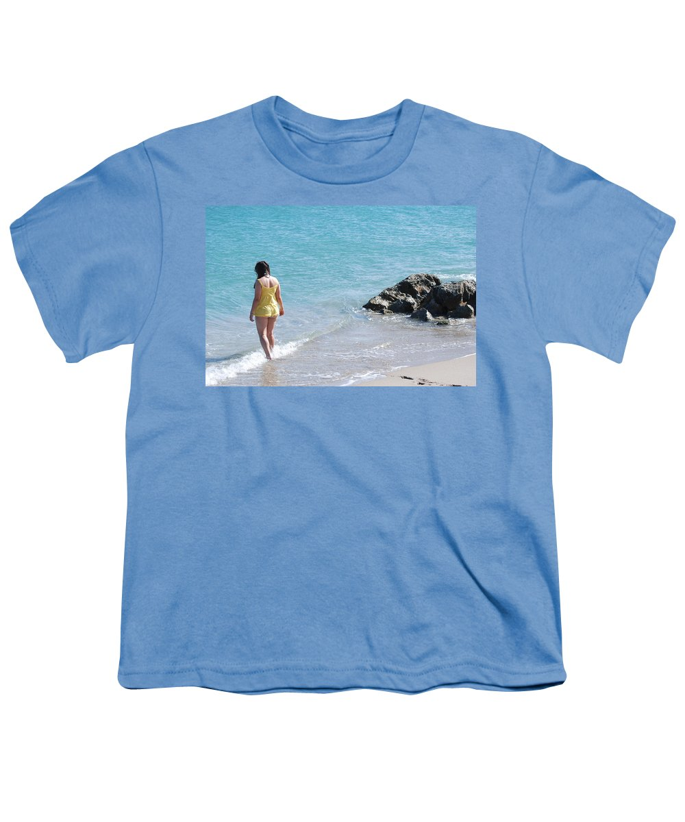 Sea Scape Youth T-Shirt featuring the photograph Yellow And Blue by Rob Hans