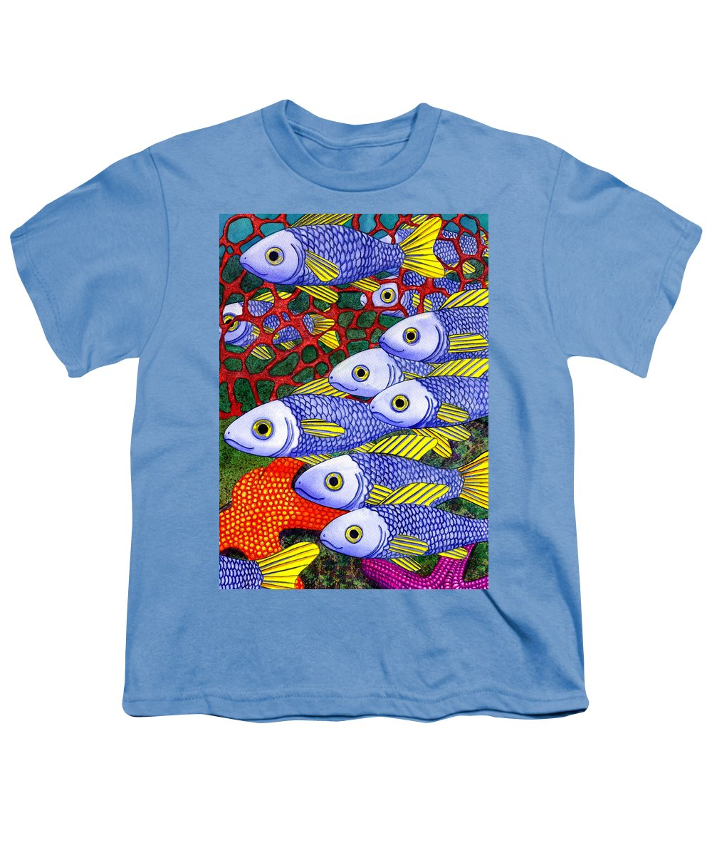 Fish Youth T-Shirt featuring the painting Yellow Fins by Catherine G McElroy